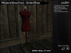 Merchant: Studio Dire Prize Name: Medieval Dress Form - Brown/Brass Form Design, Medieval Dress, Dress Form, Brass, Studio, Dresses, Medieval Gown, Vestidos, Medieval Clothing