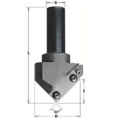 Esta eficaz herramienta para pantógrafo CNC ofrece una gama casi infinita de posibilidades en la realización de ranuras en forma de V, folding, elaboración de carteles, letras y bordes biselados.