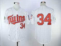 d19b9607b Men Minnesota Twins 34 Puckett White Throwback MLB Jerseys,cheap mlb jerseys,cheap  mlb