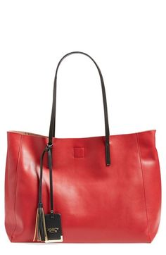 POVERTY FLATS by rian 'Colorful' Faux Leather Shopper available at #Nordstrom