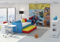 Superman! Comic book rooms are super!