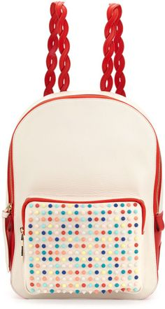 CHRISTIAN LOUBOUTIN Valou Spiked Calfskin Backpack Multicolor - Lyst