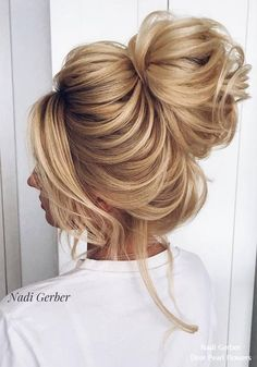 Nadi Gerber high updo wedding hairstyles #weddings #weddingideas #hairstyles #weddinginspiration #fashion #weddingupdos
