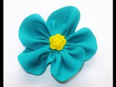 TUTORIAL:How to make handmade flower/FIORI DI STOFFA FAI DA TE - YouTube
