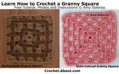 How to Crochet a Multicolored Granny Square