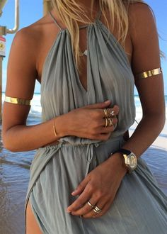 Twin Gold Arm Cuffs | SABO SKIRT