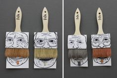 Mustache package. Creative way of painting.