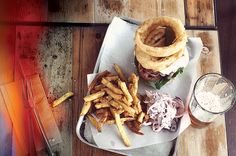 Burger n beer Hub St Ives Cornwall