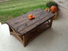 I'm finishing a coffee table that is somewhat similar