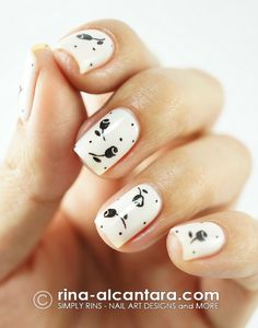 I wish I could do this. I love this design. Rose Buds Nail Art Design