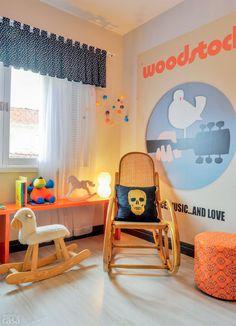 Aviões e rock inspiram decoração de quarto de bebê