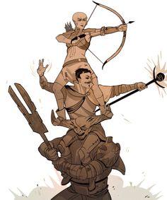 MAYHEM with Iron Bull, Dorian and Sera #dragonage #inquisition