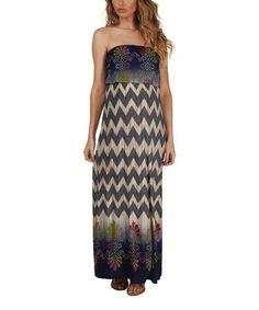Look at this #zulilyfind! Navy Blue Zigzag Maternity Maxi Dress by PinkBlush Maternity #zulilyfinds