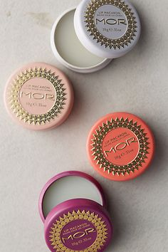 MOR lip macaron tins for the stockings 25% off with HOLIDAY25 #anthrofave #BlackFriday http://rstyle.me/n/tiz4vr9te