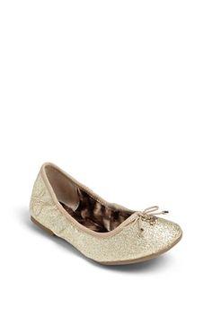 Sam Edelman 'Fiona' Glitter Ballerina Flat (Toddler, Little Kid & Big Kid) available at #Nordstrom