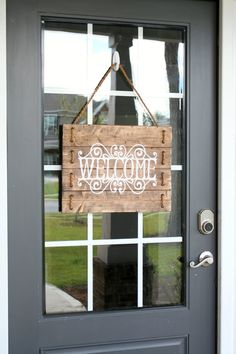 Rustic Wood Rope Welcome Sign Custom Welcome by SilvaDesignLLC