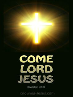 Revelation 22:20 (KJV) ~ 20 He which testifieth these things saith, Surely I come quickly. Amen. Even so, come, Lord Jesus.