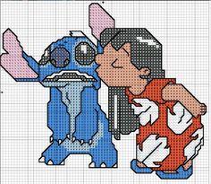 Вышивка крестом / Cross stitch : Лило и Стич
