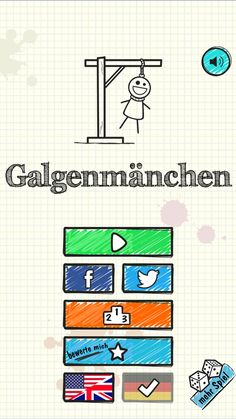 Galgenmannchen Duell auf Deutsch. Kostenlos spielen - https://play.google.com/store/apps/details?id=com.EnCrabStudio.hangmande