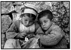 Constantine Manos Sister and Brother, Olympos, Island of Karpathos, Greece 1964 Greece Photography, Street Photography, Photographs Of People, Vintage Photographs, Fotojournalismus, Most Beautiful Words, Photographer Portfolio, Famous Photographers, Magnum Photos