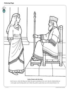 queen esther coloring pages Bible coloring sheets and pictures