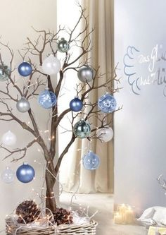 christmas branches christmas candles blue christmas christmas home christmas - Christmas Tree Branch Decorations