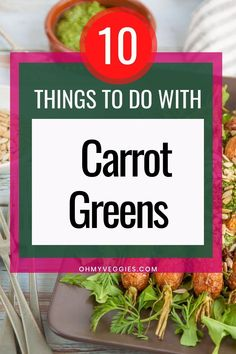 Those lanky Bugs Bunny-like green tops on your carrots are edible, and not only are they edible, but they are super delicious and loaded with nutrients! #carrotgreens #veggies #vegetables #greens #vegetarian #vegan Carrot Greens, Bugs Bunny, Vegetarian Cooking, Green Tops, Carrots, Nutrition, Asian, Meals, Dishes