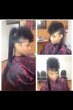 hairstyles with fringes is back with a bang – Fashion Ideas Weave Ponytail, Ponytail Styles, Braids With Weave, Sleek Ponytail, Curly Hair Styles, Natural Hair Styles, Big Braids, Curly Ponytail, My Hairstyle