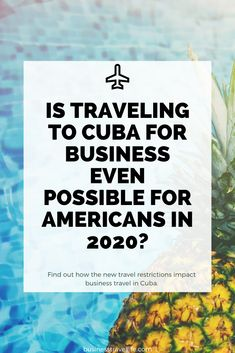 Are you thinking about traveling to Cuba for Business? Find out what impact recent travel restrictions have on travel for Americans traveling to Cuba. Business Visa, Business Travel, Cuba Travel, New Travel, American Cruises, Purpose Of Travel, Going To Cuba, Best Places To Vacation, International Travel Tips
