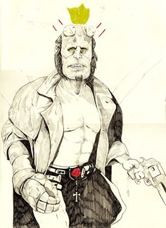 withapencilinhand:  hellboy by withapencilinhand
