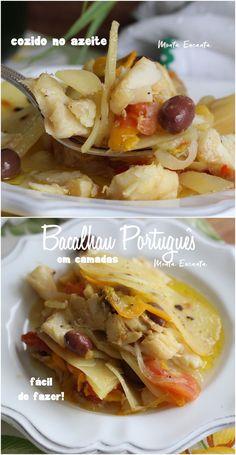 Bacalhau Português cozido no azeite! - Monta Encanta