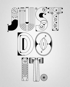 NIKE x Type illustrations just do it
