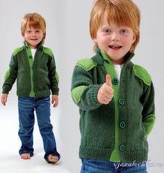 Кофта для мальчика спицами