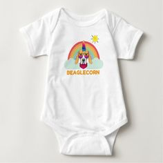 Unicorn Beagle, Beaglecorn, Funny Beagle, Beagle Baby Bodysuit  i love my beagle, labrador puppy, puppy parents #cat #love #like, back to school, aesthetic wallpaper, y2k fashion