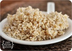 how to cook Perfect Brown Rice with a secret, special method that will blow your mind. @Mel {Mel's Kitchen Cafe}