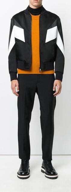 NEIL BARRETT panelled bomber jacket, explore the latest new season arrivals on Farfetch.