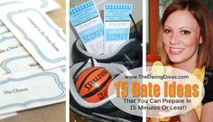 15 Creative Date Ideas... that you can throw together in LESS than 15 minutes! Date Night has NEVER been so easy!  www.thedatingdivas.com #dateideas #datenight #dates