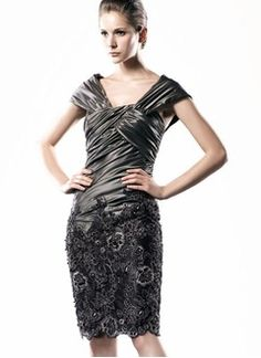 Sheath/Column Off-the-Shoulder Knee-Length Tulle Charmeuse Mother of the Bride Dress With Ruffle Lace Beading Sequins
