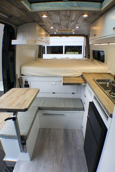 Germaine Germaine was built for an Australian couple that relocated to the United States, and wanted a Freedom Van that would make for easy camping at bike races and places they explore. They went with a light and airy aesthetic for the interior, with a d