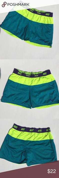 Nike Shorts Super cute Nike Dri-Fit shorts. Soft jersey like material. Tags were cut out but they are believed to be a small. Waist measures 24 inches (with stretch) and inseam is about 4 inches. No flaws to note. Nike Shorts
