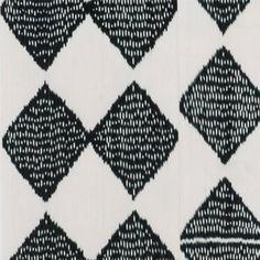 "Madeline Weinrib ""Dodi Ikat"" in Black – Revitaliste Ikat Fabric, Upholstery, Quilts, Blanket, Tapestries, Upholstered Furniture, Quilt Sets, Quilt, Rug"