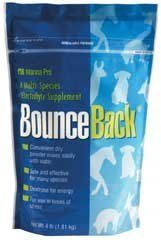 Manna Pro Bounce Back Electrolyte 4 lbs by Manna Pro. $13.10. Size: 4 Pound. Manna Pro Bounce Back(R) Manna Pro Bounce Back(R) is a multi-species electrolyte supplement which can be fed to calves, foals, goat kids, lambs, fawns, elk calves, crias (llama or alpaca), baby pigs, puppies, and kittens. This soluble powder electrolyte supplement assists many animals in retaining essential body fluids and contains dextrose which provides a high level of energy. Features: Convenient...