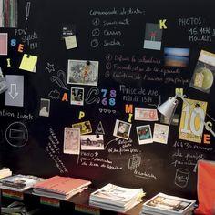 Creer Un Tableau Noir Magnetique Pour Votre Bureau Peinture Magnetique Peinture Aimantee Parement Mural