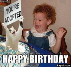 54 Ideas funny happy birthday pictures for women children for 2019 Sister Birthday Quotes Funny, Sister Meme, Funny Happy Birthday Meme, Funny Happy Birthday Pictures, Birthday Memes, Birthday Wishes, Birthday Greetings, Birthday Outfits, Birthday Ideas