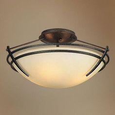 Foyer ceiling light - Presidio Tryne Semi Flush Ceiling Mount | Hubbardton Forge at Lightology - Option C
