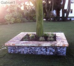 4 gabion baskets make a lovely garden seat http://www.gabion1.co.uk