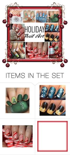 """""""Holiday Nail Art"""" by barebear1965 ❤ liked on Polyvore featuring art"""
