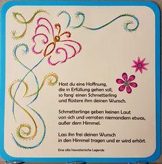 Grußkarte 137 Motiv: Schmetterling 06_2 mit Spruch Copyright des Motives: Chrissie  Doppelkarte mit Umschlag 13,5 x 13,5 cm