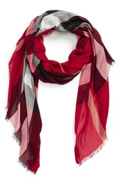 Burberry Sheer Mega Check Scarf available at #Nordstrom
