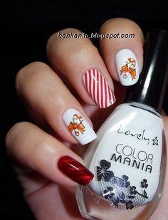 Candy Cane Nails - Christmas Nail Art